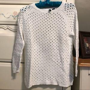 White Cynthia Rowley Sweater